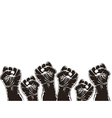 fist for revolution vector image vector image