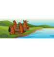beaver family vector image