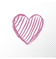 Valentines day icon heart vector image