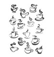 coffee cup and mug isolated icon set vector image vector image