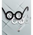 Glasses paper modern design vector image