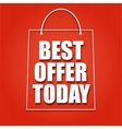 Shopping bag on a bright background with the vector image