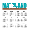 2017 Maryland calendar vector image