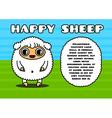 Kawaii card with sheep character vector image vector image