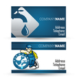 Business card for plumbing repair business vector image vector image