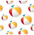 Beach ball background vector image