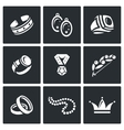 Bijouterie icons set vector image
