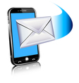 Cell Phone email mailing SMS text vector image