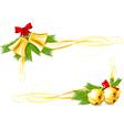 Jingle Bells and Christmas decorative corners vector image