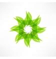 Leaf icons Eco concept Logo design vector image