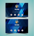 name card template vector image