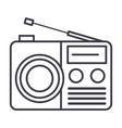 radio reciever sign line icon sign vector image