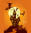 scary halloween house on night background with a vector image