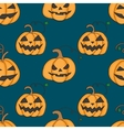 Seamless pattern with pumpkins for Halloween vector image