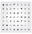 set of web universal icons vector image