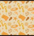 summer beach seamless pattern vector image