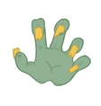 zombie hand on white background vector image