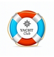 Life Buoy Yacht Club Corporate Sign Concept vector image vector image