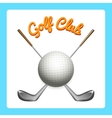 Golf icon with clubs and ball vector image