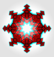 Red festive christmas star vector