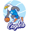 eagle basketball mascot vector image vector image