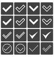Set of icons ticks check marks vector image
