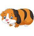 Cartoon cute guinea pig vector image vector image