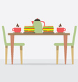 Flat Design Breakfast On Table vector image