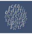 Handdrawn silver font with punctuation marks vector image