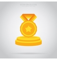 Winner isolated badge label or sticker vector image