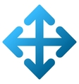 Direction Variants Gradient Icon vector image
