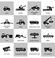 Agriculture Machinery Equipments vector image