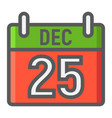 christmas calendar filled outline icon christmas vector image