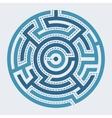 Circle maze vector image