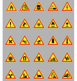 hazard lights vector image