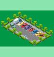 isometric parking zone concept vector image