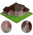 isometric villa vector image