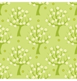 Seamless pattern with spring trees vector image