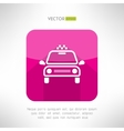 Taxi cab icon in moder clean and simple flat vector image