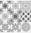 Tiles Floor Ornament Collection vector image