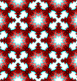 Red festive christmas star seamless pattern vector