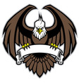 eagle grip the blank ribbon vector image vector image