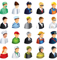 icons professions faces vector image vector image