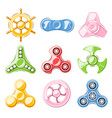 Hand spinner elements vector image