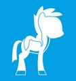 little pony icon white vector image