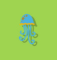 jellyfish in sticker style vector image vector image