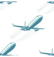 aircraft aviation airplane air transport seamless vector image