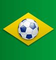 Soccer ball concept for Brazil 2014 football vector image vector image