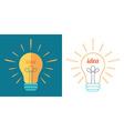 Light bulb as idea inspiration concept vector image
