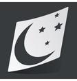Monochrome night sticker vector image